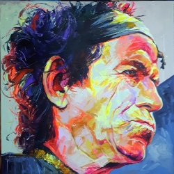 Keith Richards 120 x 120cm