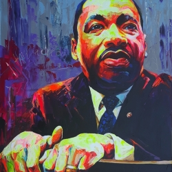 Martin Luther King 120 x 140cm